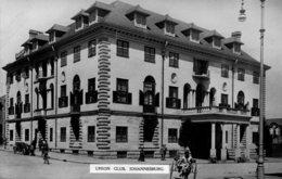 SOUTH AFRICA -  RPPC - Union Club JOHANNESBURG - Good Vintage Car Etc - Südafrika