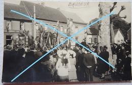 Photo BAUDOUR Ghlin Saint Ghislain Manifestation Patriotique Au Monulment Aux Morts 1914 18 Hainaut - Orte