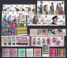G.B. 1982 Complete MNH Year Michel 900 / 937 - 1952-.... (Elizabeth II)