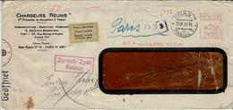 """1941- Env. De Paris 123 Pour Prague  Avec Retour Et étiquette  Trilingue  """" Raison Sociale N'existe Plus  """" - Marcophilie (Lettres)"""
