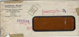 """1941- Env. De Paris 123 Pour Prague  Avec Retour Et étiquette  Trilingue  """" Inconnu   """" - Marcophilie (Lettres)"""