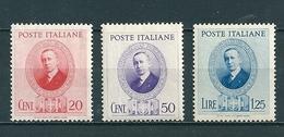 1938 MARCONI SERIE COMPLETA NUOVO - 1900-44 Vittorio Emanuele III