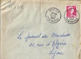 79 - DEUX SEVRES - BECELEUF -  TàD De Type  A7 De 1957 - Marcophilie (Lettres)