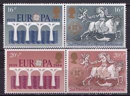 U.K. 1984 Europe CEPT 25 Years CEPT Complete MNH Set Michel 988 / 991 - 1952-.... (Elizabeth II)