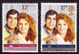 G.B. 1986 Merriage Of Prince Andrew And Sarah Furguson MNH Set Mi. 1081 / 1082 - 1952-.... (Elizabeth II)