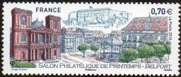 France Architecture N° 5041 ** Salon Philatélique De Printemps à Belfort - Cathédrale Saint-Christophe, Kiosque, Arbres - Eglises Et Cathédrales