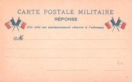 Carte De FRANCHISE MILITAIRE 2 Drapeaux Neuve Avec Mention REPONSE - Postmark Collection (Covers)