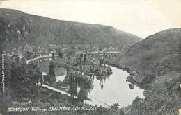 CPA 25 Doubs Besançon Vallée De Casamène Et Ile Malpas Carte Publicitaire Comptoir Général D'Horlogerie - Besancon