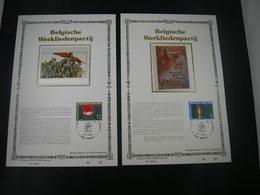 """BELG.1985 2167 & 2168 FDC ZIJDE Filatlic Kaarten NL N°25/200 E : """" Werkliedenpartij  / Parti Ouvrier Belge """" - 1981-90"""