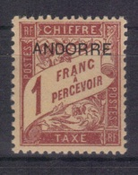 Andorre Fr. 1931/32 Yvert Taxe 6 Neuf** MNH (194) - Timbres-taxe