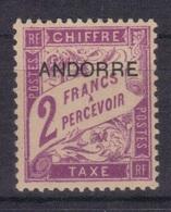 Andorre Fr. 1931/32 Yvert Taxe 7 Neuf** MNH (194) - Timbres-taxe