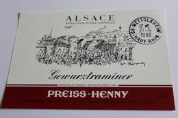 Etiquette De Vin Neuve Jamais Servie GEWURZTRAMINER  PREISS HENNY - Gewurztraminer