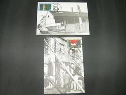"BELG.1985 2167 & 2168 FDC Maxicards : "" Werkliedenpartij  / Parti Ouvrier Belge "" - 1981-90"