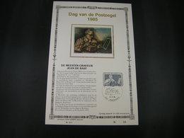 "BELG.1985 2169 FDC ZIJDE Filatlic Kaart NL N°59/200 E :"" Journée Du Timbre , Jean De Bast Graveur , Dag Van De Postzeg "" - 1981-90"