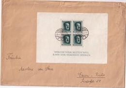ALLEMAGNE 1937 LETTRE DE PASEWALK AVEC BLOC - Briefe U. Dokumente
