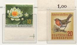 PIA - GERMANIA - 1957 - Anno Mondiale Perla Protezione Della Flora E Della Fauna - (Yv 146-47) - Nuovi