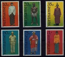 Suriname Surinam 1978 - Trachten  Folf Costume - Männertrachten - MiNr 812-817 - Kostüme