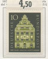 PIA - GERMANIA - 1957  : 5° Centenario Della Dieta Di Wurtemberg  -   (Yv 150) - Nuovi