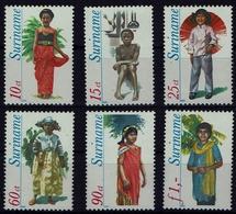 Suriname Surinam 1980 - Trachten  Folf Costume - Kindertrachten - MiNr 888-893 - Kostüme