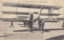 Le Triplan Goupy N° 1 – Vue Avant ( Avion ) Circulée Timbrée 1908 - Airmen, Fliers