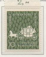 PIA - GERMANIA - 1957  : Centenario Della Morte Del Poeta Joseph Von Eichendorff  -   (Yv 151) - Nuovi