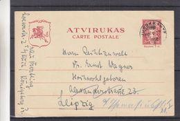 Lituanie - Carte Postale De 1932 - Entiers Postaux - Oblit Juodkrante - Exp Vers Leipzig - Litauen