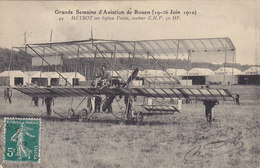 Grande Semaine D'aviation De ROUEN (19-26 Juin 1910) METROT Sur Biplan Voisin, Moteur ENV 50 HP ( Avion HANGAR ) Circulé - Aviateurs