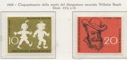 PIA - GERMANIA - 1958 - Cinquantenario Della Morte Del Disegnatore Wilhelm Busch - (Yv 153-54) - Nuovi