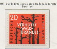 PIA - GERMANIA - 1958  : Per La Lotta Contro Gli Incendi Delle Foreste  -   (Yv 155) - Nuovi