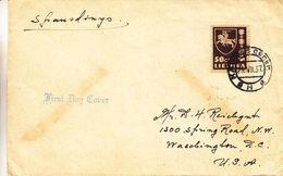Lituanie - Lettre FDC De 1937 - Oblit Klaipeda - Exp Vers Waschington USA - Litauen