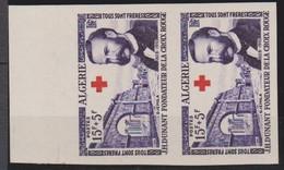 ALGERIE NON DENTELE   N° 316 & 317  CROIX  ROUGE - Algérie (1924-1962)