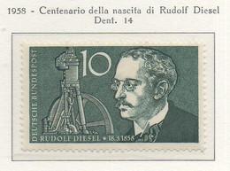 PIA - GERMANIA - 1958  : Centenario Della Nascita Di Rudolf Diesel  -   (Yv 156) - Nuovi