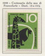 PIA - GERMANIA - 1958  : Centenario Dello Zoo Di Francoforte  -   (Yv 159) - Nuevos