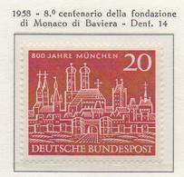 PIA - GERMANIA - 1958  : 8° Centenario Della Fondazione Di Monaco Di Baviera  -   (Yv 160) - Nuovi