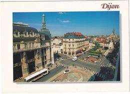 Dijon: AUTOBUS/COACH, PEUGEOT 306 CABRIOLET - La Place Grangier - (Cote D'Or) - Voitures De Tourisme