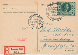 Braunau Inn Hitler Bolschewismus R-Karte Nach Insterburg 1943 - Allemagne