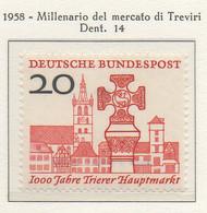 PIA - GERMANIA - 1958  : Millenario Del Mercato Di Treviri  -   (Yv 161) - Nuovi