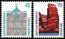 Série De 2 T.-P. Gommés Neufs**  Curiosités Château De Rastatt Héligoland Les Falaises - N° 1300-1301 (Yvert) - RFA 1990 - [7] Federal Republic