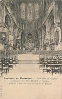 CPA - Belgique - Brussels - Bruxelles - Intérieur De L'Eglise Collégiale Des  SS. Michel Et Gudule - Monuments, édifices