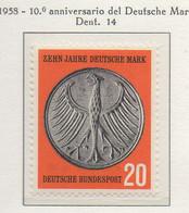 PIA - GERMANIA - 1958  :  10° Anniversario Del Marco Tedesco -   (Yv 162) - Nuovi