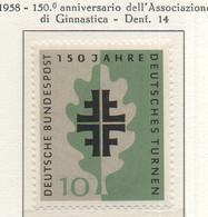 PIA - GERMANIA - 1958  :  150° Anniversario Dell' Associazione Di Ginnastica -   (Yv 163) - Nuovi