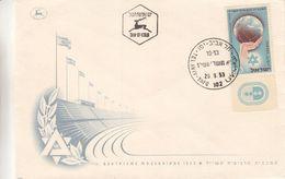 Israël - Lettre De 1953 - Oblit Tel Aviv - Sports - Maccabiade - - Israel