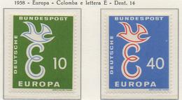 PIA - CEPT - 1958 - GERMANIA  -  (Yv 164-65) - Nuovi