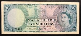 Figi Fiji 5 Shillings 1961 Pick 30  Lotto 2640 - Fidji