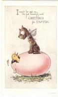 """""""Dog On Egg. Chidk""""  Lovely Tuck Easter Greetings Series Pc # 1220 - Tuck, Raphael"""