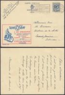 Publibel 1086 - 90c Voyagé - Thématique Vélos- Motos  (DD) DC3691 - Publibels