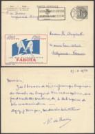 Publibel 1256 - 1F20 Voyagé - Thématique Textile Bas Et Chaussettes (DD) DC3708 - Entiers Postaux