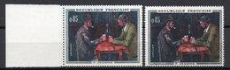 - FRANCE Variété N° 1321f - 85 C. Cézanne 1961 - CHIFFRES BLANCS - Signé CALVES - Cote 38 EUR - - Plaatfouten En Curiosa