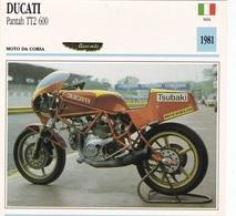 MOTO DA CORSA DUCATI PANTAH TT2 600 ITALIA 1981 DESCRIZIONE COMPLETA SUL RETRO AUTENTICA 100% - Advertising