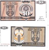 Bosnie-Herzégovine 10 Dinara - Bosnia And Herzegovina